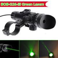 BOB-G26-III Green Lasers 532nm / <5mw / 200 lumen (LM) Hunting Optics Tactical Green Beam Laser Sight with Rail Mount