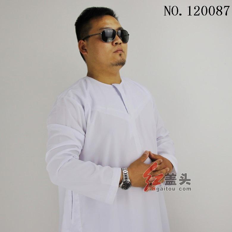 moslim jurk mannen abaya islamitische kleding, 2 kleuren, primaire kristal katoen, kleine groothandel/retail, fabriek directe verkoop 120087(China (Mainland))