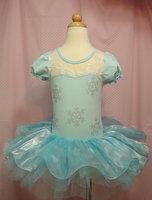 retail 2014 New Christmas kids Mini dress style hot sale girl lace diamond dance dress  free shipping