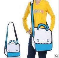 Taiwan secondary yuan 3D shoulder bag cartoon handbags cross-body bags solid bag 1022