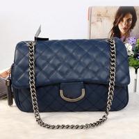 2014 new brand cc women messenger shoulder bag lady double c chain handbag 100% genuine leather