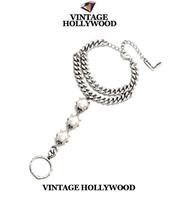 VINTAGE HOLLYWOOD all-match pearl bracelet kors bracelet rings bracelet strass bracelet jewelry charm bracelets for women