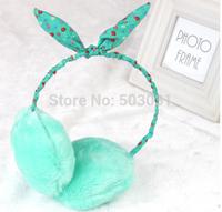 Free Shipping Wholesale 20pcs Baby Child Rabbit ear  Plush Warm earmuffs children's warm earmuffs ear-protector