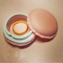 6ps lot Cute Candy Pastel Color Macaroon Jewelry Box Macaron Mini Storage Box Kawaii Decoration