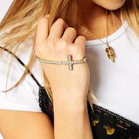 Gold bracelet strass 'Cross' 'Love' bracelets bangles kors bracelet charm bracelets for women bracelet jewelry,Free Shipping