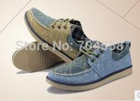 New 2014 spring hot sale men's casual shoes korean cowboy breathable lace-up canvas shoes fashion flat shoes