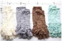 DHL Free Shipping  24pairs /lot  Wholesale Lace Leg Warmers leggings baby girl Ruffled Tulle  Leg  Warmer