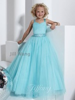 30 2014 new arrival blue white flower girl dresses for weddings girls pageant dresses prom dress shine dress custom made 2015