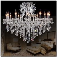 Clear Crystal Chandelier Light / Lamp / Lighting, Large Crystal Lamp, Crystal Lighting Fixture Maria Theresa Fast Shipping