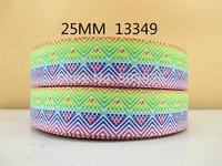 50Y13349 david ribbon free shipping 1'' printed ribbon Grosgrain ribbon for packing and bow garment accessoires