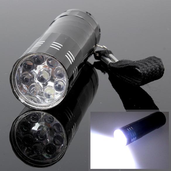 LY4# Free Shipping New 9 LED Mini Flash Ultra Bright light Torch(China (Mainland))
