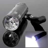 LY4# Free Shipping New 9 LED Mini Flash Ultra Bright light Torch