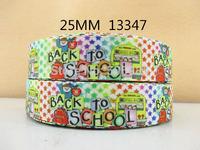 50Y13347 david ribbon free shipping 1'' printed ribbon Grosgrain ribbon for packing and bow garment accessoires
