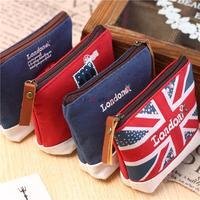 London impressions Kids Women Zipper coin bags purses wallet cute fashion Make up Bag Stock XB-AAJ