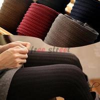 2014 Autumn Winter Korean slim Sexy stripe twist Knitted fashion thick Women Casual Cotton Tights Hoses Warm