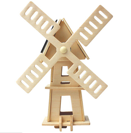 Building models Solar dancing toys gadgets robot kit solar toy robot Children gift Car gadget wood toy Windmills Free shipping(China (Mainland))