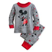 Retail 2014 New 2 pcs set kids sleepwear suits toddler cartoon pajama Retail Children 100% cotton long sleeve pajamas set