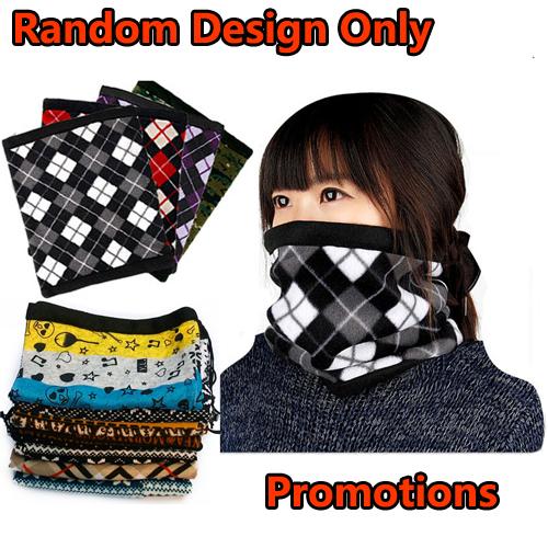1pc/lot Retail Random Design Popular Double Layers Multipurpose Polar Fleece Neck Warmer Ear Warmer, Mask Hat For Promotion(China (Mainland))