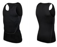 New Style Mens Slim Training Vest Clothing Swimwears Pro Sport Spandex Rash Guard Men Fitness Sweat Quick-Drying Sleevless Shirt