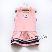 plus velvet warm winter vest skirt girls cute cat embroidery Korean children's clothing