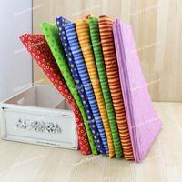 Dot & Stripe 8 Assorted Pre-Cut Charm Cotton Quilt Fabric Fat Quarter Tissue Bundle, Best Match DIY Cloth Textile 50x50cm