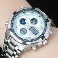 Fashion LED casual quartz watch men sports watches men luxury brand military Digital wristwatches full steel men watch Relogios