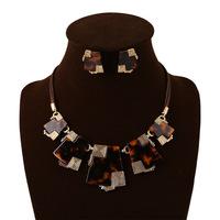 Fashion leopard designer jewelry sets for wedding engagement women accessories