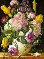 Penoy Vase Flowers 100%FULL DRILL high quality new needlework diy diamond painting cross stitch embroidery of rhinestones 30x40
