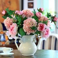 White Vase Pink Penoy 100%FULL DRILL high quality new needlework diy diamond painting cross stitch rhinestone embroidery 50x50