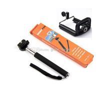 Z07-1 Adjustable 22-109cm Monopod with phone Holder for Digital Camera & Cell Phones black/blue/rose
