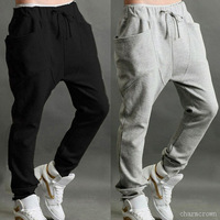 8Pcs/Lot Sweatpants Men Cool Small Leg Harem Casual Sports Pants Trousers Men's Regular Fit Sports Pants Baggy Jogging Trousers