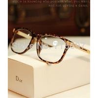 10 Colors Vintage Men/Women Metal Frame Fashion Brand Designer Plain Mirror Myopia Eyewear Prescription Eyeglasses Oculos De Sol