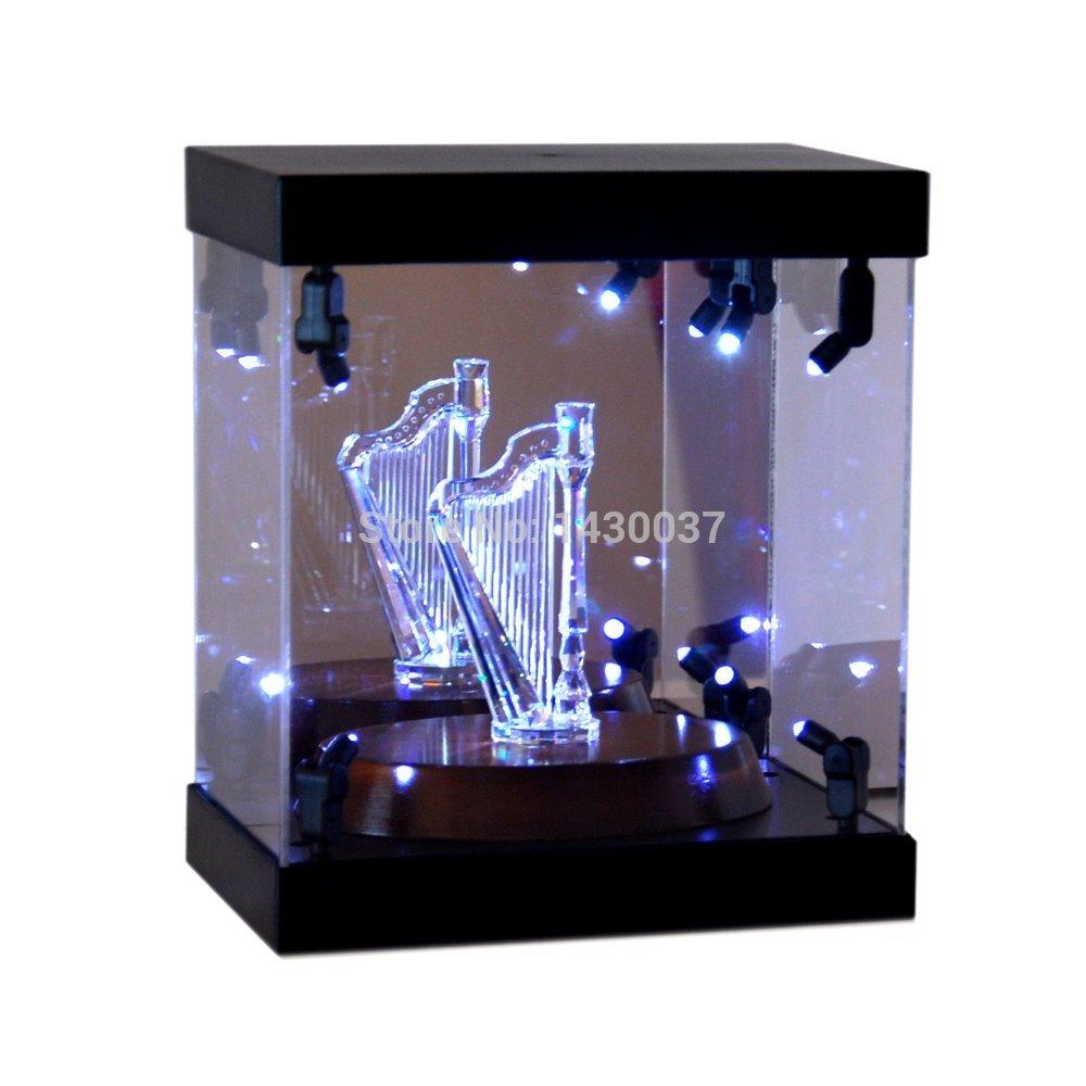 Acrylic Light Box Display : Mb display box acrylic case led light house for crystal harp