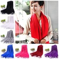 200*70cm Fashion Women Men Winter Autumn Large Long Scarf imitation pashmina cashmere shawls and scarves 24 Solid Colors choose