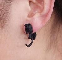 FREE SHIPPING !The New Vintage Retro Black Bronze Fox Ear Cuff Stud Earring