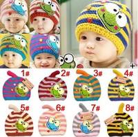 On Sale Baby Crochet Beanie Handmade Knitting Winter Hat Children Accessories Warm Skullies & Beanies Casual Cap Hat 6 Colors