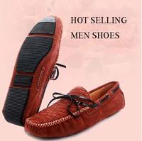 Autumn men's genuine leather casual shoes plus size lazy flat shoes