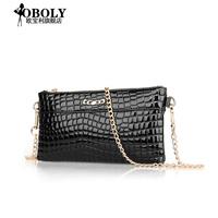 Li 2014 in Opel new female bags diagonal ladies handbag crocodile shoulder chain bag commute laptop