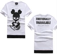 Men casual tshirt  skull dog  t-shirt good  cotton slim fitness t shirt for mens summer top & tees brand emotionally unavailable