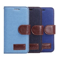 50pcs/lot Free Shipping New Jean Wallet PU Leather Stand Leather Case With Card slot For Sony Xperia Z3