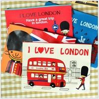"""I LOVE London"" Creative Cute  Large Capacity Pencil  Bag File Pocket  Canvas School Pencil Case Stationery"