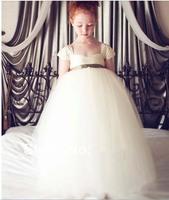 32 2014 sash organza ball gown flower girl dresses for weddings girls pageant dresses prom dress shine dress custom made 2015