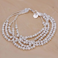 Free shipping 925 sterling silver jewelry bracelet fine fashion rose bracelet top quality wholesale and retail SMTH250
