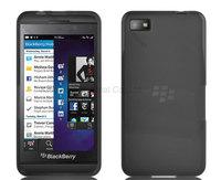 1000 pcs/lot TPU Gel Rubber Skin Case Cover for Blackberry Z10