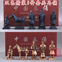 2014 New Resin Terracotta warriors crafts decoration terracotta warriors  5 piece/set gift box Free Shipping