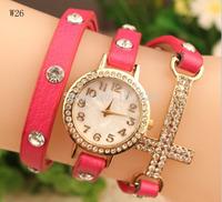 Fashion Leather Cross Wholesale Cheap Watch