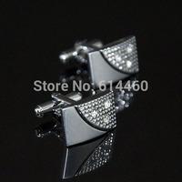 Men's Shirt Accessories Crystal Elegant Cufflinks High Quality Cufflinks 2pairs/lot Free Shipment