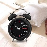English double- bell alarm clock digital clock mute 3-inch clock freee shipping