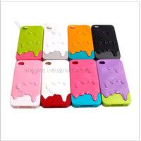 100 pcs/lot  New 3D Melt Carbonate Melt Skin Melt ice-Cream Hard Case Cover for iPhone 4 4G 4GS 4S