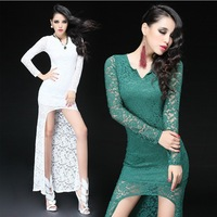 2014 new European style long sleeve lace dress women casual Autumn dress 4 colors free size